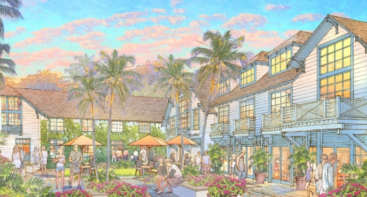 View of Hotel Courtyard as you enter from Commercial Plaza